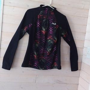 FILA SPORT PERFORMANCE black and rainbow zip up